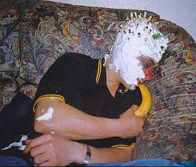 captain creamhead uses his bananaphone to summon help.